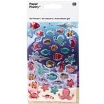 Paper Poetry Gelsticker Fische
