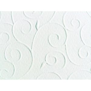Marpa Jansen Prägekarton Arabesken 50x70cm 220g/m² weiß
