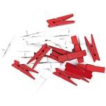 Rico Design Klammern rot-weiß 3,5cm 24 Stück Holz