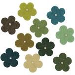 Rico Design Filzblüten mit Perlen 10 Stück grünmix
