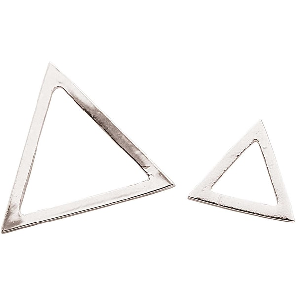 Jewellery Made by Me Anhänger Dreiecke silber 2 Stück