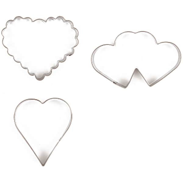 Rico Design Keksausstecher Herzenmix 3 Stück