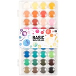 Rico Design Basic Water Colours Wasserfarbkasten 36 Farben