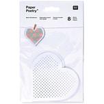 Paper Poetry Stickkarton Herzen 20,5x12,5cm 8 Stück