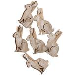 Ohhh! Lovely! Dekoklammern Hase 6 Stück weiß