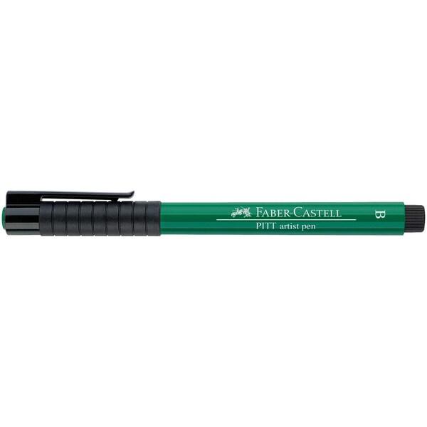 Faber Castell PITT artist pen brush phthalogrün dunkel