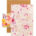 Paper Poetry Grußkartenset Crafted Nature Blumenwiese rosa