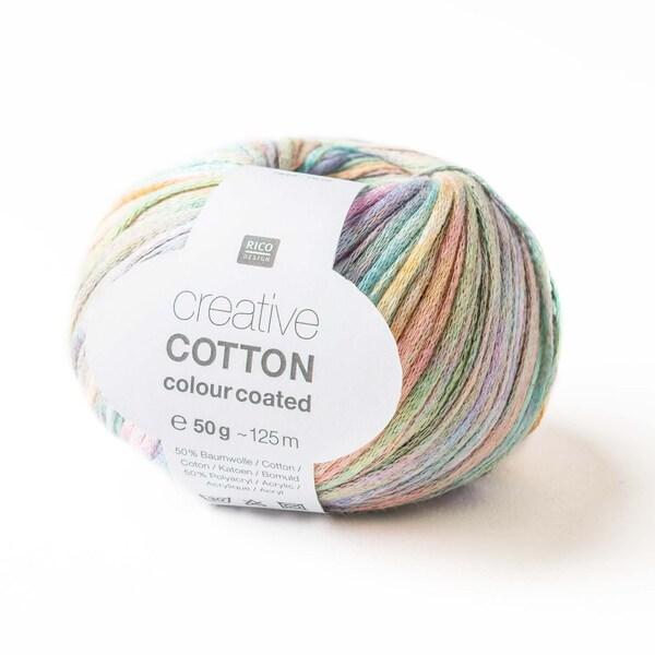 Rico Design Creative Cotton Colour Coated 50g 125m pastell mix