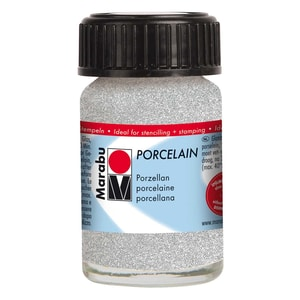 Marabu Porcelain 15ml glitter-silber