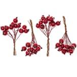Beeren im Bund rot 10cm 4 Stück
