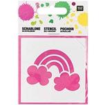 Rico Design Schablone Regenbogen 7,5x7,5cm selbstklebend