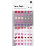 Paper Poetry Sticker Herzen 264 Stück