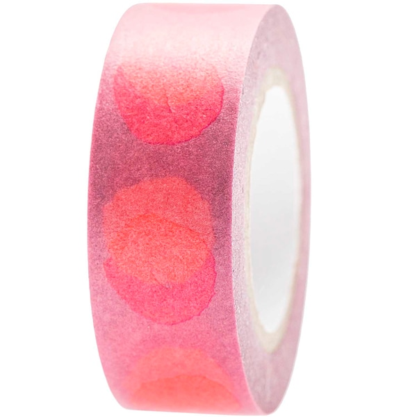 Paper Poetry Tape Crafted Nature Spots pink 1,5cm 10m