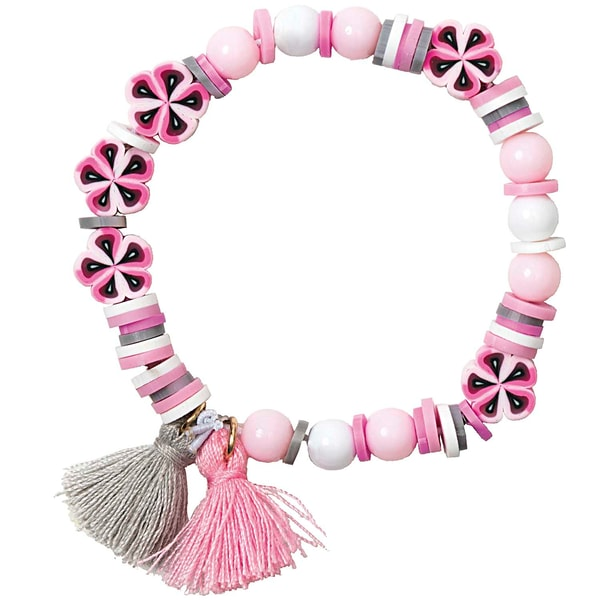 Jewellery Made by Me Mini Perlen Armband Set rosa-grau