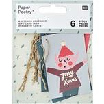 Paper Poetry Kärtchenanhänger Jolly Christmas Classic 6 Stück