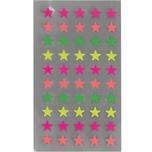 Paper Poetry Sticker Sterne neon 4 Blatt 8 mm