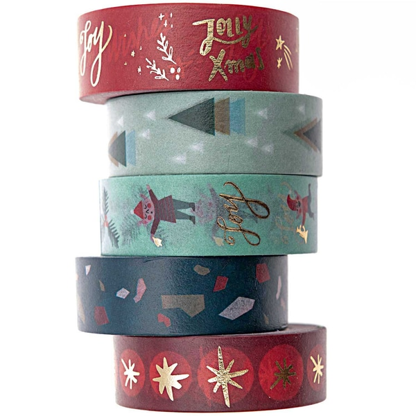 Paper Poetry Tape Set Jolly Christmas Classic 1,5cm 10m 5teilig