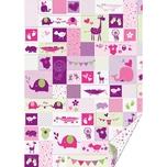 HEYDA Bastelkarton Baby rosa-grün 50x70cm 300g/m²