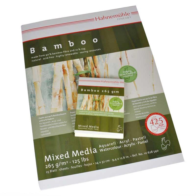 Hahnemühle Block Bamboo Mixed Media 265g/m² 25 Blatt 24 x 32 cm