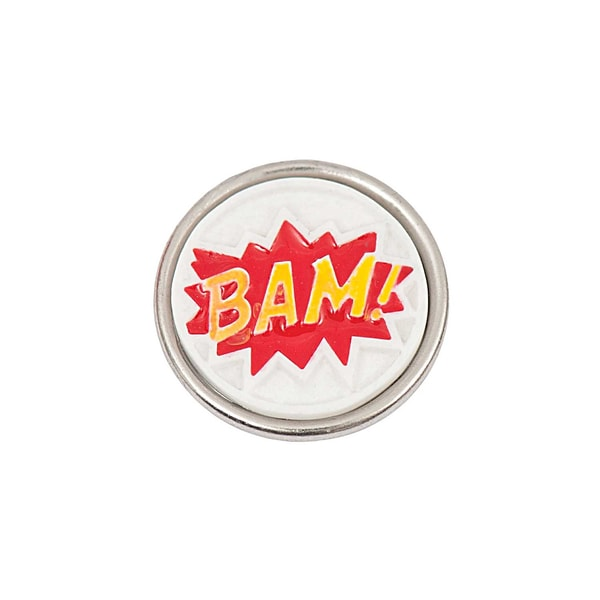 Rico Design Knopf Bam gelb-rot-weiß 14mm