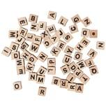 Rico Design Holzwürfel Buchstaben natur ca. 60 Stück