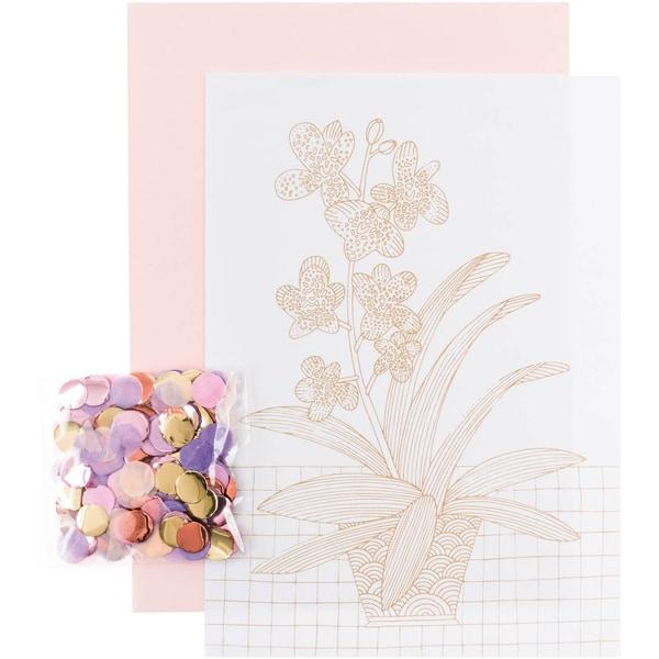 Paper Poetry Grußkartenset Hygge Orchidee