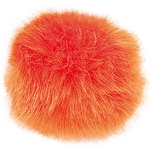 Rico Design Kunstfellbommel 10cm orange