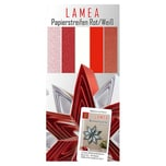 Nice Papers Papierstreifen rot-weiß 3x33cm 150 Stück