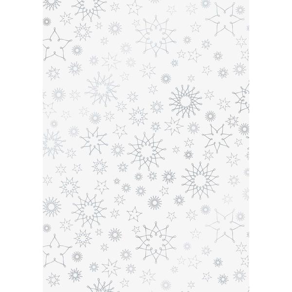 HEYDA Transparentpapier Stardust silber 50x70cm 115g/m²