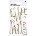 Paper Poetry 3D Sticker Kerzen
