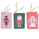 Paper Poetry Kärtchenanhänger Weihnachtsfiguren 6 Stück