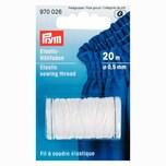Prym Elastic-Nähfaden weiß 0,5mm 20m