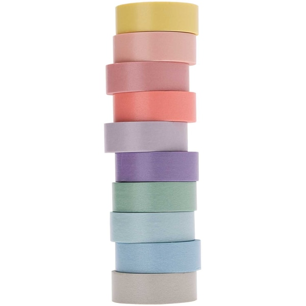 Paper Poetry Tape Set pastell 15mm 5m 10 Stück