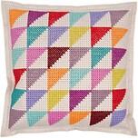 Rico Design Filzkissen zum Besticken mehrfarbige Dreiecke 42x42cm