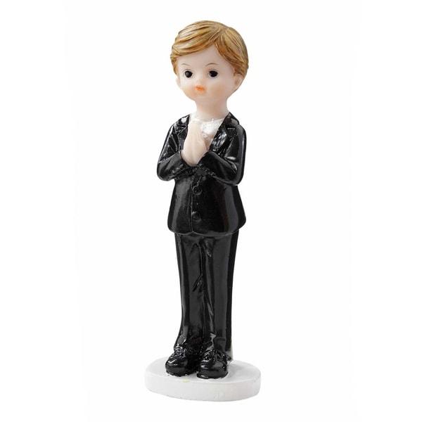 HobbyFun Figur Junge zur Kommunion/Konfirmation 8cm