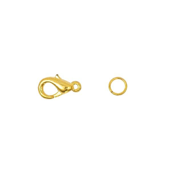 Jewellery Made by Me Karabiner mit 2 Federringen gold 10mm