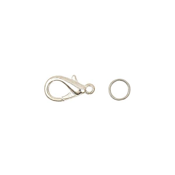 Jewellery Made by Me Karabiner mit 2 Federringe silber 15mm