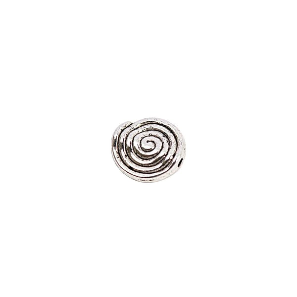 Rico Design 15 Linsen Spiralmuster silber 10mm