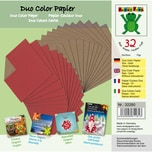 Nice Papers Bascettapapier duo rot-gold 20x20cm