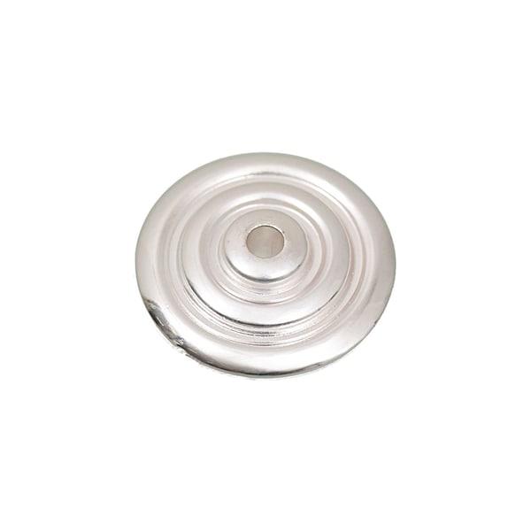 Jewellery Made by Me Diskus mit Kreisen silber 21mm 6 Stück