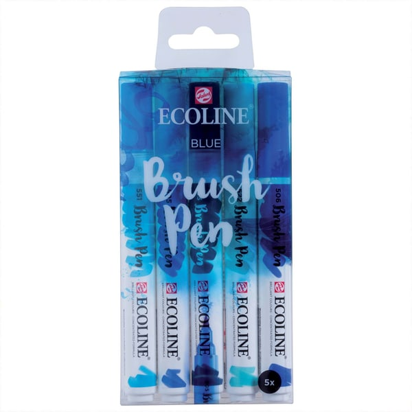 ECOLINE Brush Pen Set 5 Stück blau