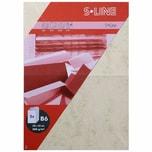 Artoz Doppelkarte S-Line B6 200g/m² 5 Stück marmoriert gelb