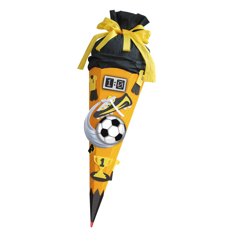 ROTH Schultüten Bastelset Moosgummi Soccer gelb 68cm