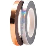 Paper Poetry Tapes Metallic 5mm 10m 2 Stück irisierend-roségold