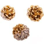 Kiefernzapfen rosé-gold 6 Stück