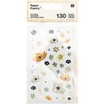 Paper Poetry Sticker Crafted Nature Blume blau 130 Stück