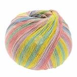 Lana Grossa Meilenweit 100 Cotton Bamboo Butterfly 100g 420m lachs mix
