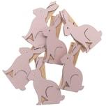 Ohhh! Lovely! Dekoklammern Hase 6 Stück rosa