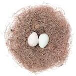 Grasnest mit Eiern Ø=16cm