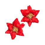 YEY! Let's Party Seidenpapierblumen Weihnachtsstern 25cm 2 Stück rot
